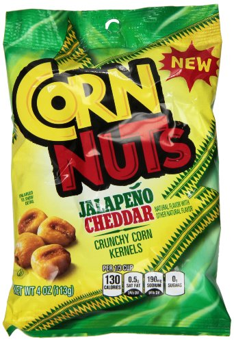 Flavored Corn - Corn Nuts Flavored Snack, Jalapeno Cheddar, 4 Ounce (Pack of 12)