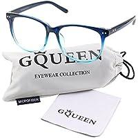 GQUEEN 201581 Large Oversized Frame Horn Rimmed Clear Lens Glasses