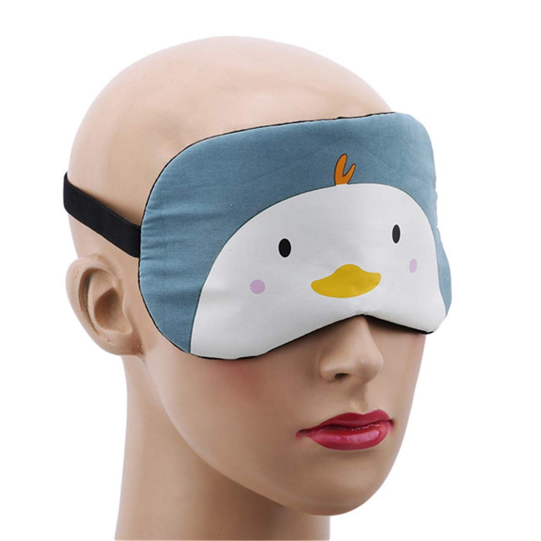 LZIYAN Cartoon Sleep Eye Mask Cute Animal Pattern Eye Mask Blindfold Eye Patch Sleeping Eyeshade Travel Shade Cover,Chick by LZIYAN (Image #4)