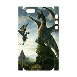 QSWHXN Cell phone Protection Cover 3D Case Dragon For Iphone 5,5S