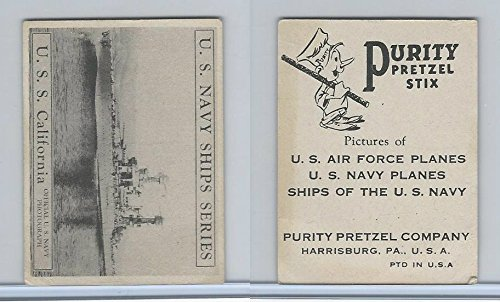 California Pretzels (D85-3 Purity Pretzel, US Navy Ships, 1950, USS California)