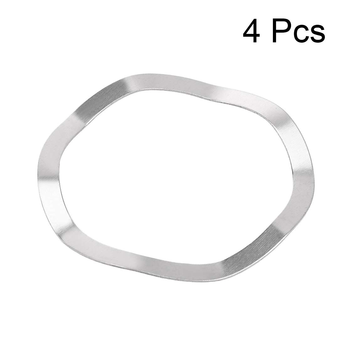 uxcell 4 Pcs 31mm x 39mm x 0.4mm 304 Stainless Steel Wave Spring Washer for Screw Bolt