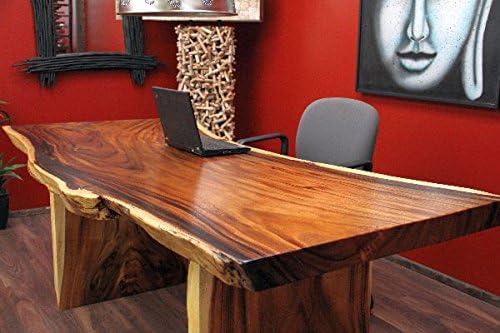 Schreibtisch, Suar, Holz, Massiv, Tisch, Tischplatte, Natur