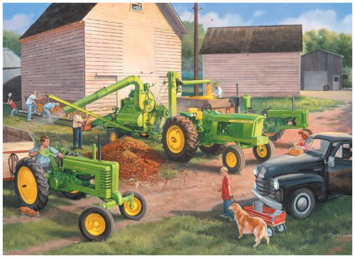 Great American Puzzle Factory John Deere Shelling Days 1000 Piece Jigsaw Puzzle
