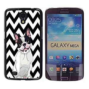 - FRENCH BULLDOG Chevron - - Fashion Dream Catcher Design Hard Plastic Protective Case Cover FOR Samsung Galaxy Mega 6.3 Retro Candy
