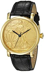 CROTON Men's CN307402COYL Curren C Analog Display Swiss Quartz Black Watch