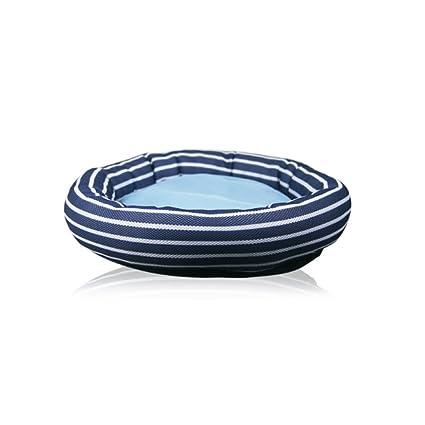 AYCC Kennel Cat Litter Summer Mesh Transpirable Estera De Rayas Oval Pet Supplies Adecuado para Todos