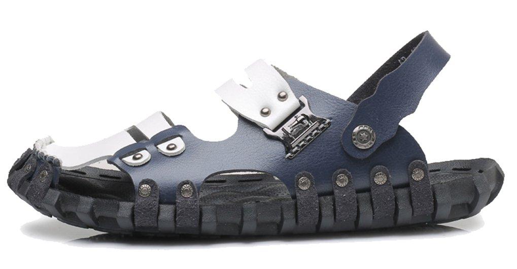 Femaroly Beach Shoes Men's Summer Spring Autumn Sandals Close Toe Dual-use Slippers Blue 6M