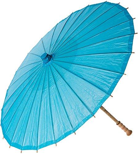 Bazaar Paper Parasol 32 Inch Turquoise
