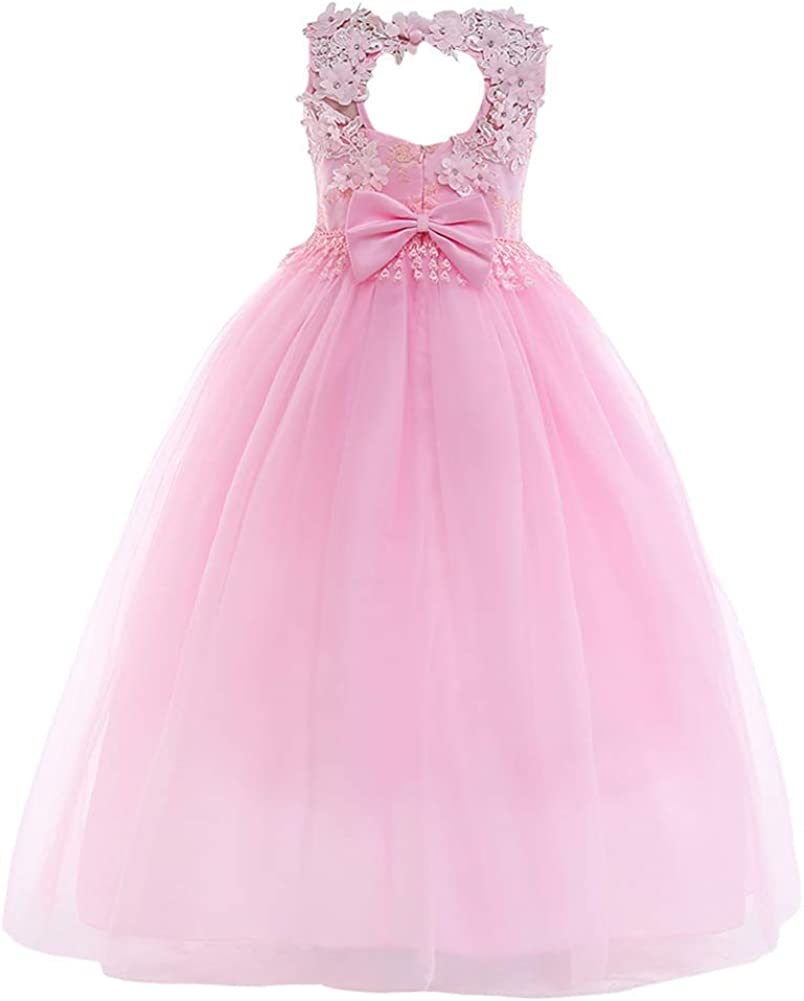 2018 Kids Girls Long Full Dress Princess Prom Cocktail Child Evening Party Gown