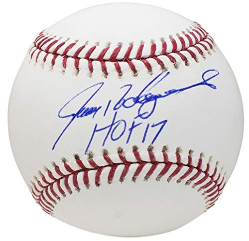 (Ivan Pudge Rodriguez Rangers Signed MLB Baseball HOF 17 w/Free Ball Cube JSA ITP)