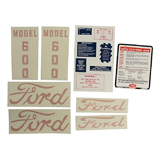 D-6005557 New Decal Set Made to fit Ford Tractor 600 (1955-1957)