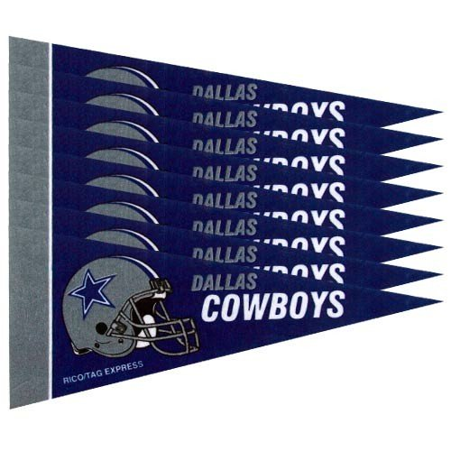Rico Industries NFL Dallas Cowboys Pennant Mini (8 Piece), One Size, Team Color
