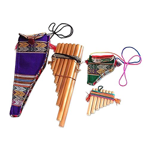 - NOVICA Decorative Wind Inca Serenade' (Pair) Bamboo zampona panpipes