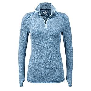 REGNA X Women Long Sleeve athletic running lightweight zip Track Jacket Blue XL