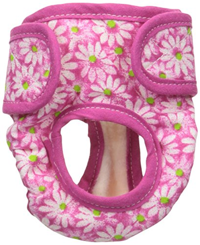 Seasonals Washable Dog Diaper, Fits Toy Dogs, Pink Flowers ()