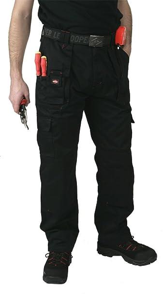 Lee Cooper para Hombre Workwear Lcpnt206 Carga Multi – Bolsillo para Pantalones con Rodilleras Bolsillos