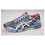 ASICS Women's Gel-Noosa Tri 11 Running Shoe, Asics Blue/White/Hot Pink, 7 M US