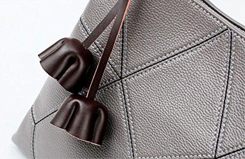 ミスショルダーバッグ2018新しいハンドバッグ革ハンドバッグカジュアル刺繍ラインレザー対角タッセル春夏ZYXCC