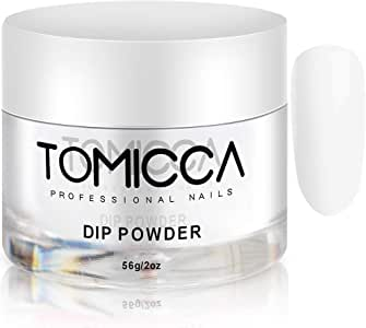 TOMICCA Dip Powder Acrylic Dipping Dust Powder for Nails 56g (Clear)