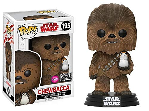 Figura Pop! Star Wars Episode VIII The Last Jedi Chewbacca with PORG Flocked Exclus