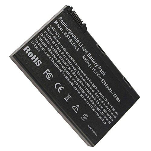 New Laptop Battery for Acer BATBL50L6, Acer Aspire 5515 5100 3100 5610 5630, Travelmate 2490, fits BATBL50L8H BATBL50L4 BATBL50L8H - 12 Months Warranty