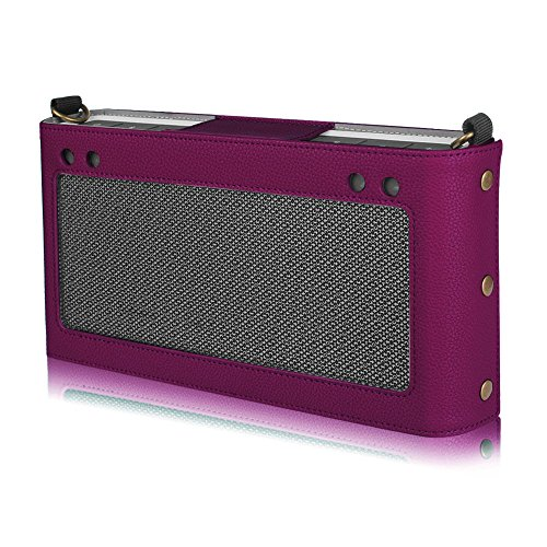 Fintie Bose SoundLink Bluetooth Speaker III Hülle Abdeckung - Hochwertiges Kunstleder Schutzhülle Tasche Case mit Abnehmbarem Band für Bose SoundLink Bluetooth Speaker III 3, Lila