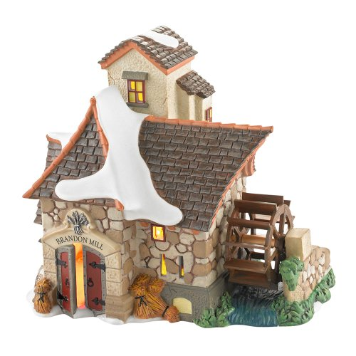 Department 56 Dickens' Village Brandon Mill Lit House, 6.1 inch