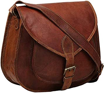9aa70c14ac90 Buy CraftShades 100% Genuine Leather Small Women Sling Bag Size (9   7   3  inches) Online at Low Prices in India - Amazon.in