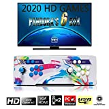 SeeKool [2000 HD Retro Games] Arcade Video Game Console, Pandora's Box 6 Multiplayer Home Players Joystick Arcade Machine, Customeried Buttons, 1280x720 Full HD, Upgraded CPU, Support PS3