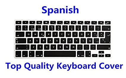 9c460fcf75f HRH Spanish Language Silicone Keyboard Cover Skin for MacBook Air 13,MacBook  Pro13/15