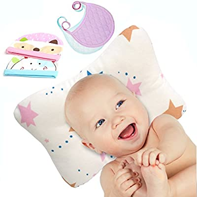 Baby Head Shaping Pillow | Baby Flat Head Pillow for Sleeping | Flat Head Baby Pillow for Newborn | Infant Head Shaping Pillow | Baby Pillows for Sleeping