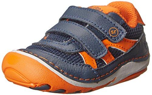 Stride Rite SRT SM Rourke Sneaker (Infant/Toddler),Navy/Orange,4 W US Toddler