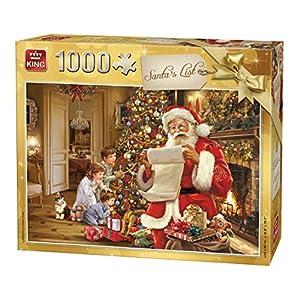 King 5767 Puzzle Da 1000 Pezzi Con Lista Di Babbo Natale A Colori 68 X 49 Cm