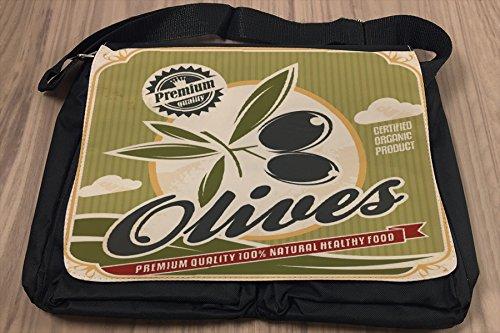 Borsa Tracolla Retro Olive Stampato