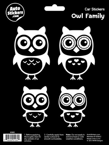 WMI Designs (10022) Owl Family Stickers (Owls Family Design)
