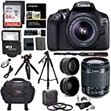 Canon EOS Rebel T6 Digital SLR Camera Kit with EF-S 18-55mm f/3.5-5.6 IS II Lens + Polaroid .43x Super Wide Angle & 2.2X HD Telephoto Lens + 50