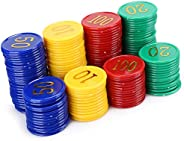 Digital Poker Chip, Strong Professional Family Poker Chip Educational Sturdy with Round Edges for Family for F