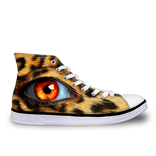 For U Diseñes Designer Mujer Canvas Zapatos Vivid Pupil Eyes High Top Flat Sneakers Pupil Eyes 1