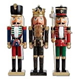 Kurt S. Adler 20'' Wooden Soldier/King Nutcrackers Set of 3 Assorted