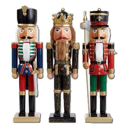 Kurt S. Adler 20'' Wooden Soldier/King Nutcrackers Set of 3 Assorted by Kurt Adler (Image #1)
