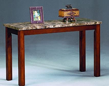 Amazon Com Thurner Marble Top Sofa Table By Crown Mark Furniture