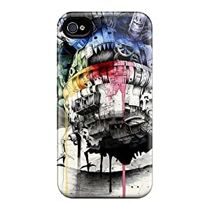 Protector Cell-phone Hard Covers For Iphone 6 (QRh16561iYnb) Unique Design Trendy Howls Moving Castle Series