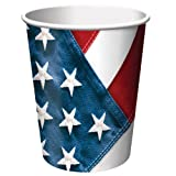 50-Count Value Pack 9-Ounce Hot/Cold Paper Beverage Cups- Red, White and True,