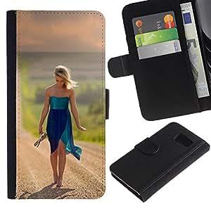 All Phone Most Case / Oferta Especial Cáscara Funda de cuero Monedero Cubierta de proteccion Caso / Wallet Case for Sony Xperia Z3 Compact // doroga prostor put devushka