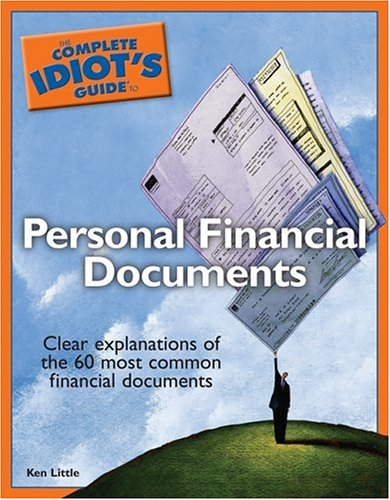 The Complete Idiot's Guide to Personal Financial Documents ebook