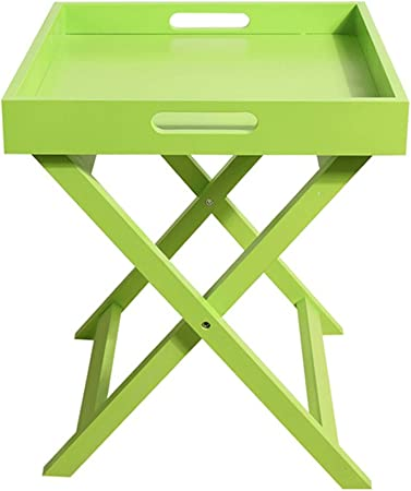 ZH Table Pliante Table basse pliante en bois, petite table à ...
