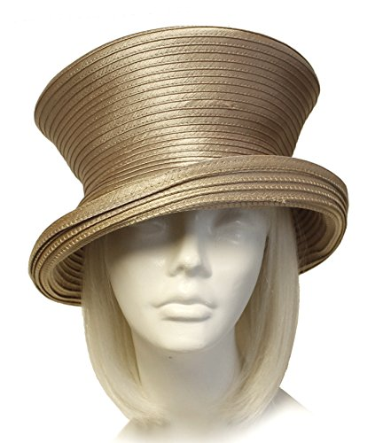Millinery Trim (THE RED HAT SOCIETY® Shop by Luke Song Satin-CRIN 2-Tier Tiffany Brim Hat Body - Assorted Colors (Untrimmed Hat ONLY) 727)