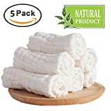 Baby Muslin Washcloths - Natural Muslin Cotton Baby Wipes -...