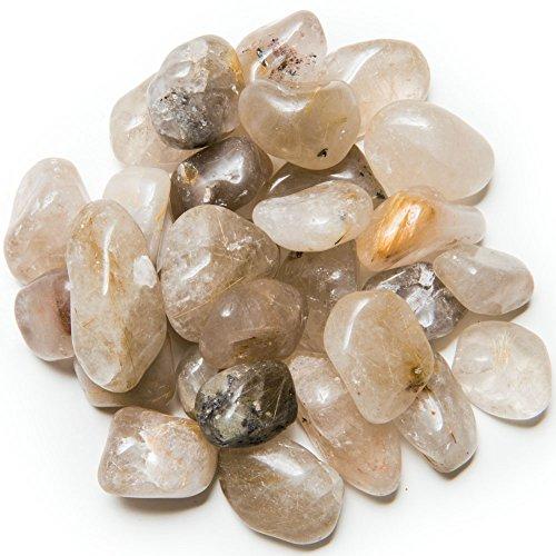 (Hypnotic Gems Materials: 1/2 lb Tumbled AA Grade Rutilated Quartz - Medium - 1